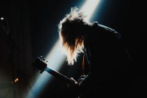 Guitar player practicing the guitar